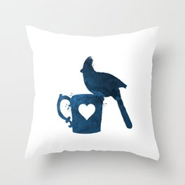 Cardinal (Bird) Throw Pillow