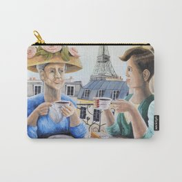 Tea Time in Paris Carry-All Pouch