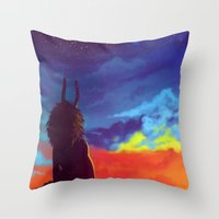homestuck Throw Pillows featuring Constellations by gravityjump