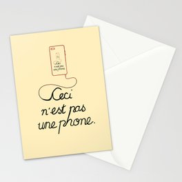 Ceci N'est Pas Une Parody Stationery Cards