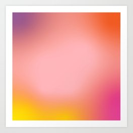 Sunset Gradient Art Print