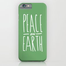 Peace on Earth (Green) Slim Case iPhone 6