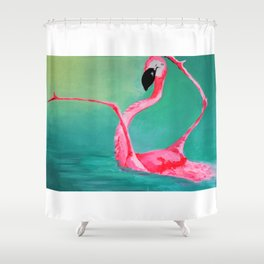 FLAMINGODANCE Shower Curtain