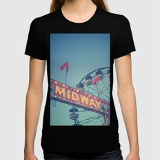 Midway Black Womens Fitted Tee X-LARGE