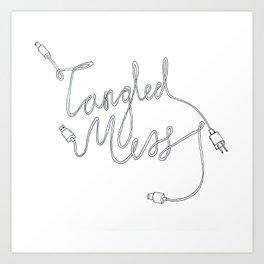 Tangled Mess Art Print
