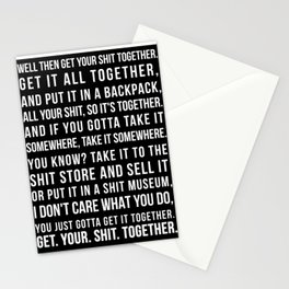Get Your Shit Together Stationery Cards