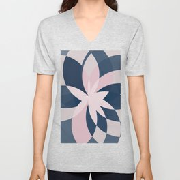 Rose Blue Bloom Unisex V-Neck