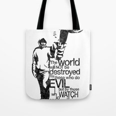 Anonymous and typography quote Tote Bag