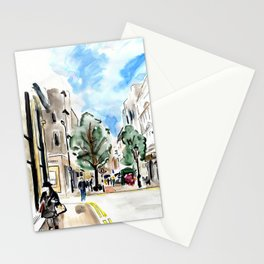 Bond street scene Stationery Cards