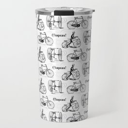Vintage Cyclist Old French Bicycles Travel Mug