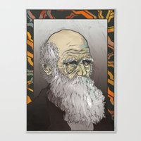 darwin Canvas Prints featuring Darwin by The Dead Sea Society