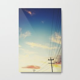 Powerlines Metal Print