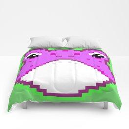 Pixel Froggy - Purple Comforters