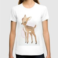 fawn T-shirts featuring Fawn  by Tanya Petruk