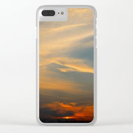 Sunset 032719 Caps, Texas Clear iPhone Case