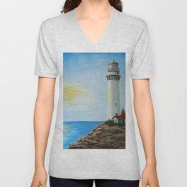 Sunny Lighthouse Unisex V-Neck