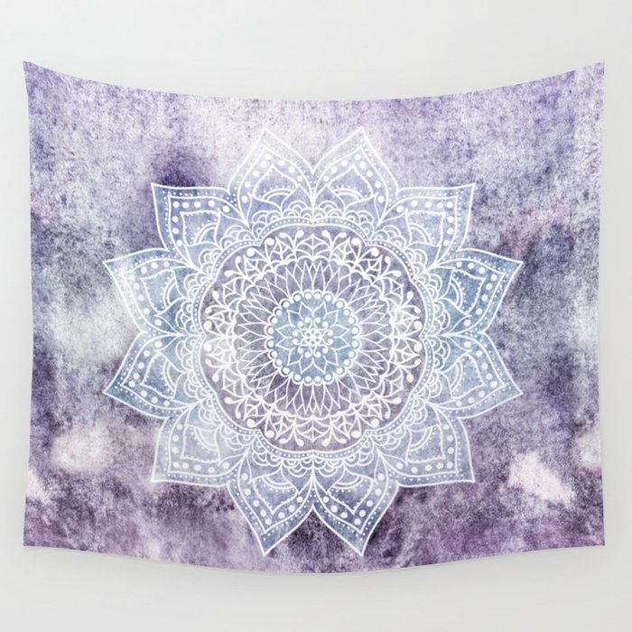 Deep Purple Mandala Wall Tapestry By Nika Society6