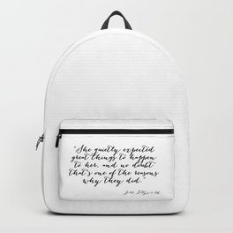 She quietly expected great things Backpack