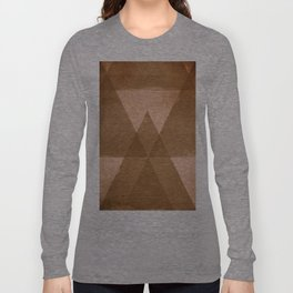 Distressed Triangles Long Sleeve T-shirt