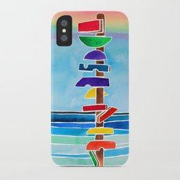 Rhythms at Rainbow Beach iPhone Case