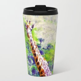 African Giraffe - Wondering Through Africa Travel Mug
