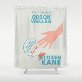 Citizen Kane, minimal movie poster, Orson Welles film, hollywood masterpiece, classic cinema Shower Curtain