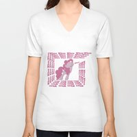 mlp V-neck T-shirts featuring MLP: Pinkie Pie goes Whoo by turokevie