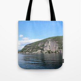 Summer's End: Roger's Rock on Lake George Tote Bag