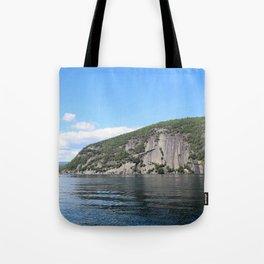 Summer's End: Roger's Rock on Lake George Tote Bag