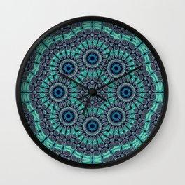 Water Mandala Wall Clock