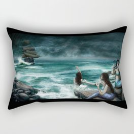 Sirens on the Rocks Rectangular Pillow