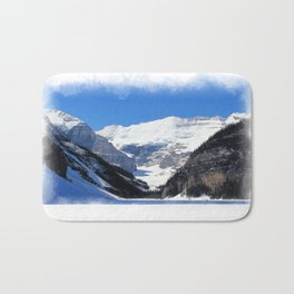 Lake Louise in Banff National Park Bath Mat