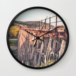 Spring Creek Trestle Wall Clock
