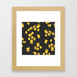 When life gives you lemons - black Framed Art Print
