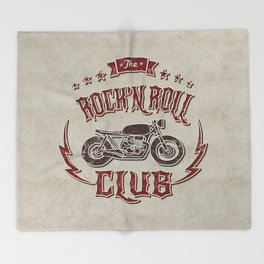 Rock 'n Roll Motorcycle Club Throw Blanket