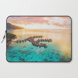 Bora bora Tahiti honeymoon beach resort vacation Laptop Sleeve