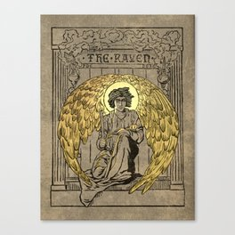 The Raven. 1884 edition cover Canvas Print
