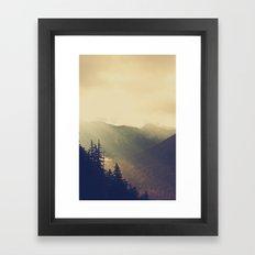 Sunrise over the Mountians Framed Art Print