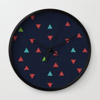 snowboarding Wall Clocks featuring TRY ANGLES / snowboarding by DANIEL COULMANN