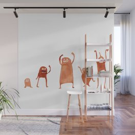 Monster Dance Party Wall Mural