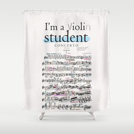 Violin student Shower Curtain