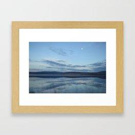 Klamath Lake reflecting clouds Framed Art Print