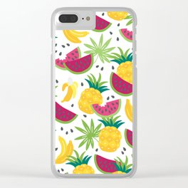 Fresh fruits Clear iPhone Case