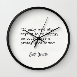 Either Wharton quote Wall Clock