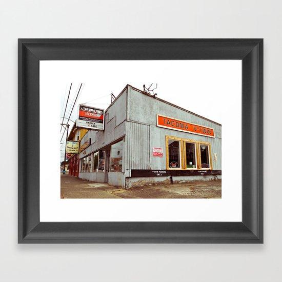 Tacoma V-Twin Framed Art Print