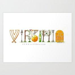UVA - Charlottesville Art Print