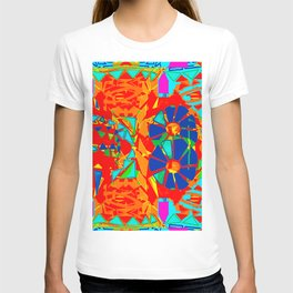 Aztec on acid print T-shirt