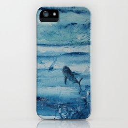 Sharks in deep blue iPhone Case