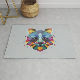 Racoon Color Geometric Rug