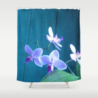 orchid Shower Curtains featuring Orchid by Cyrille Savelieff